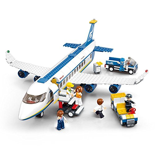 Sluban Aviation Blocks Plane Bricks Toy-Airbus (M38-B0366)