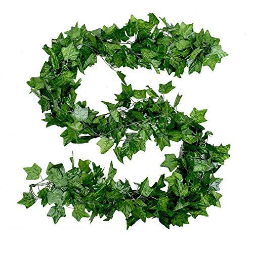 JS One Delux Artificial Trailing Garland Ivy Vine Leaf Fern Plant Foliage 5 Pcs 2.3M