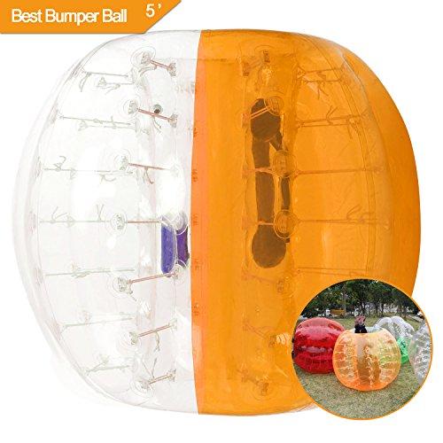 Fast88 Bola de Parachoques Inflable Rápido DE 1,5 m de Diámetro, Bola de Fútbol con Burbujas para Hámster Humano para Adultos y Adolescentes, 1.5M-Yellow