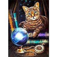 ダイヤモンド刺繡動物猫マジックボールウィザード漫画5Dモザイク絵画壁画アートスクエアラウンドフォトDIYセットギフトホーム