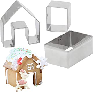 3 Pcs Gingerbread House Cookie Cutter Set Bake Your Own Small Gingerbread House Kit Little Cookie Christmas House Baking Mould Kitchen Accessories