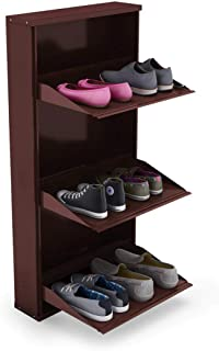 Peng Essentials SpaceSaver 3 Level 20 Inches Wide Shoe Rack (Brown)