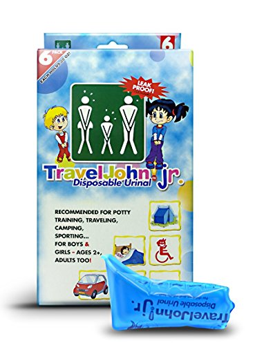 TravelJohn JrDisposable Urinal Bags 6 pack