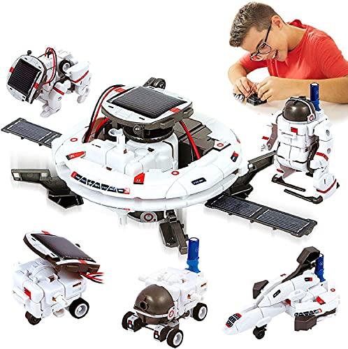 Neu Aktualisierte STEM Spielzeuge 6-in-1-Solarroboter-Kit Lernwissenschaft Bauspielzeuge Bildungswissenschaft Kit Betrieben vom Solarroboter für Kinder 8 9 10-12 Jahre Jungen Mädchen Geschenke