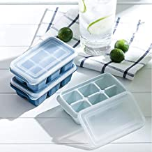 Mini Ice Cube Trays with Lids, BPA Free Stackable and Reusable, Ice Cube for Whiskey Cocktails Drinks Ice Tray for Freezer (3 Pack)