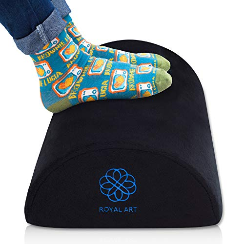 Foot Rest Under Desk Leg Stool Footrest Support Cushion Pillow Half-Cylinder Pads Velvet for Home Office Car Grey (Round Black)