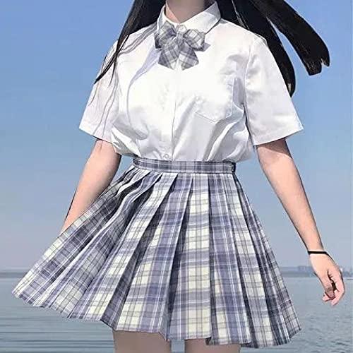 Falda Plisada Faldas Jk para Mujer, Faldas De Cintura Alta De Verano, Faldas Plisadas De Estilo Coreano para Niñas, Minifalda A Cuadros Dulce Bonita para M