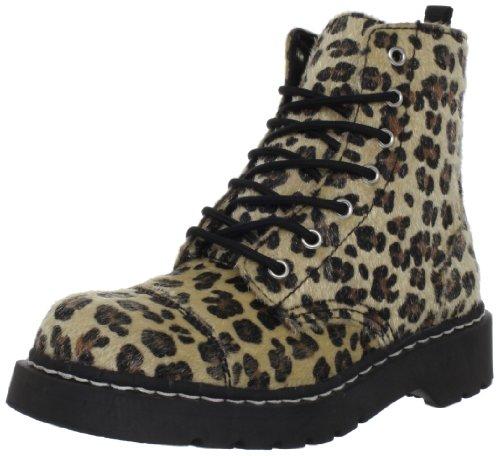 TUK Anarchic Boots T2181, Damen Stiefel, Schwarz (Noir (Natural Leopard)), 37 EU