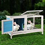 Magshion Spacious Wooden Chicken Coop Bunny Rabbit Hutch Pet Hutch Playpen House (Style 05)
