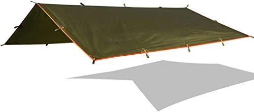 CYLQ Bache Tente Anti Pluie,Camping Bache Camping en Plein Air Portable avec La Randonnée Bache De Pluie Shelter,Tissu Ripstop Léger Vert