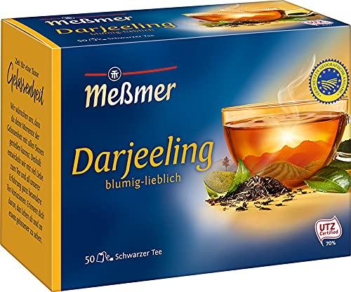 Meßmer Darjeeling, 50 Teebeutel, Vegan, Glutenfrei, Laktosefrei