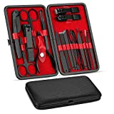 Manicure Set, Pedicure Kit, Nail Clippers, Professional Grooming Kit, Nail Tools 18 In 1 with...