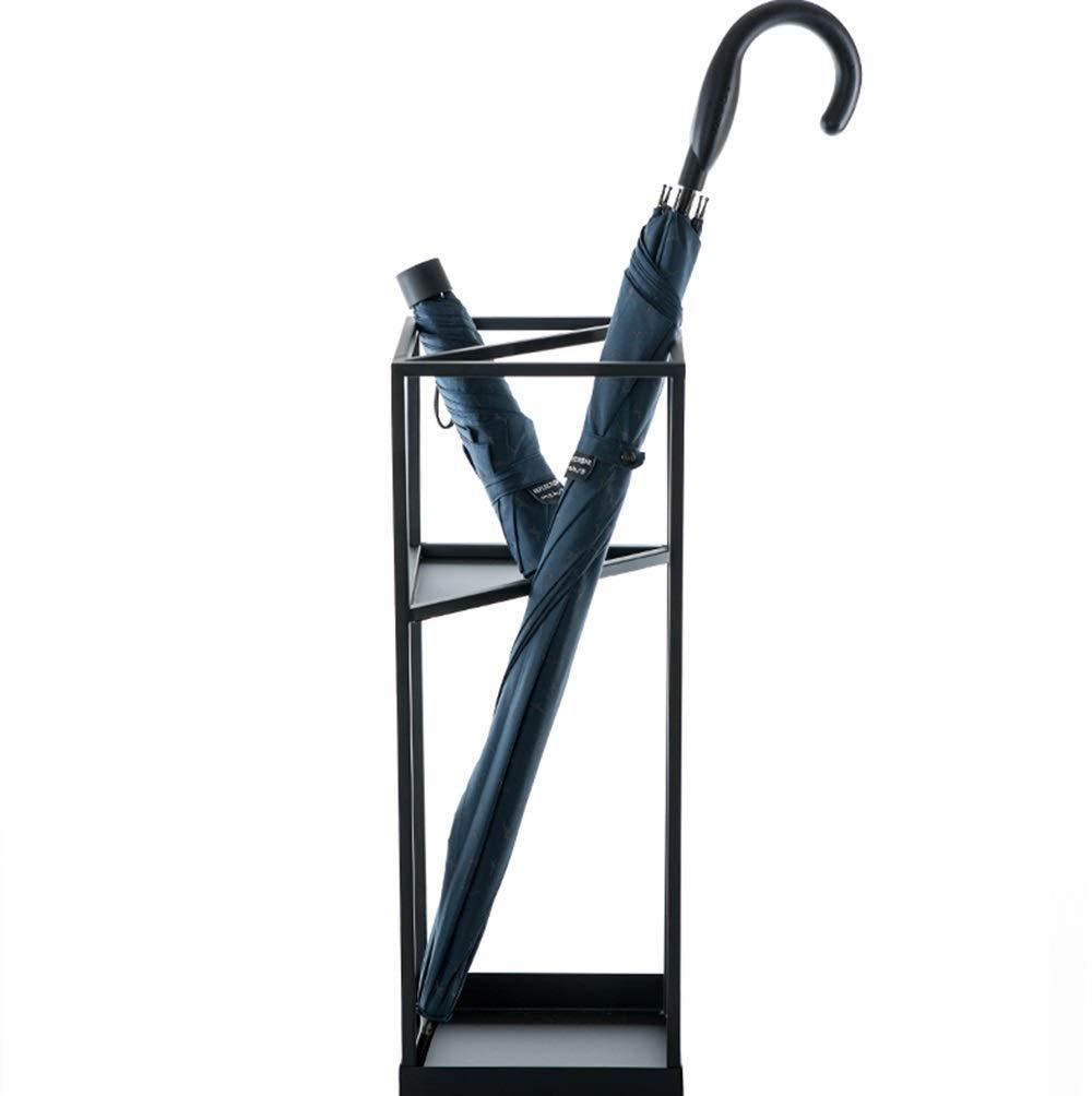 黒の古典的な幾何学的な錬鉄の傘スタンドファミリーカフェファッションストレージラック