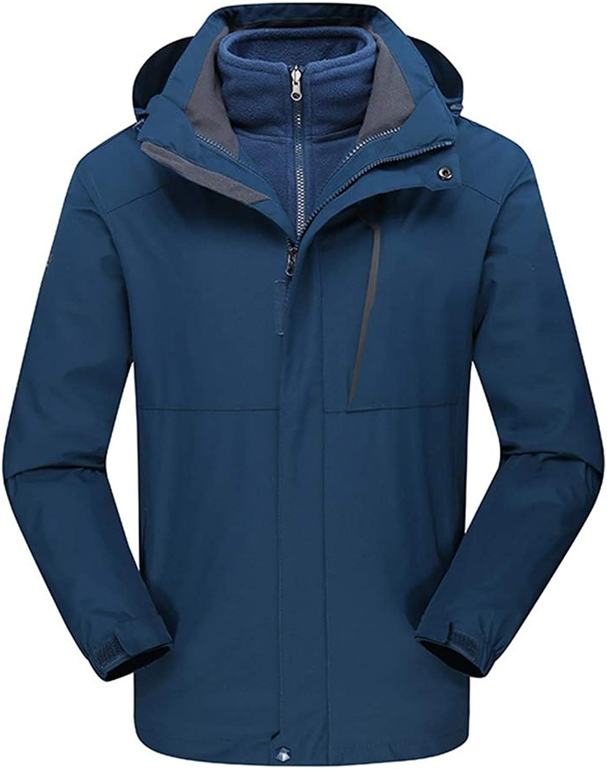 c82d4a2b2 Insun Men's Thick Warm Outdoor Waterproof Softshell 3-in-1 Hooded ...