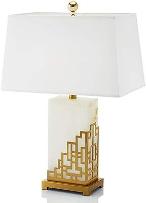 デスクライト デスクランプデスクランプテーブルランプ装飾テーブルランプクリエイティブデザインモデルルーム照明調査読書テーブルランプベッドサイドテーブルランプ (Color : 白, Size : 46*66cm)