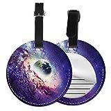 Etiquetas para Equipaje Bolso ID Tag Viaje Bolso De La Maleta Identifier Las Etiquetas Maletas Viaje Luggage ID Tag para Maletas Equipaje Impresionante Worm Hole Space Galaxy Earth Cool