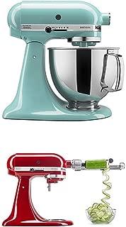 KitchenAid  Artisan Series 5-Qt. Stand Mixer - Aqua Sky and Spiralizer Attachment