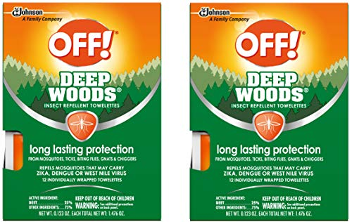 OFF! Deep Woods Towelettes, 12 CT (Pack - 2)