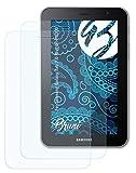 Bruni Película Protectora Compatible con Samsung Galaxy Tab 7.0 Plus GT-P6200 Protector Película, Claro Lámina Protectora (2X)