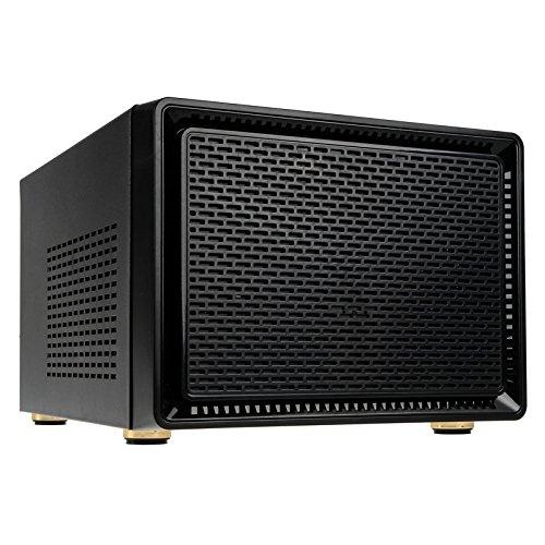 KOLINK Satellite Mini-ITX Micro-ATX Gehäuse Computergehäuse, PC Hülle, PC Case, PC Gehäuse Klein, Dezentes Design Computer Gehäuse, Schwarz