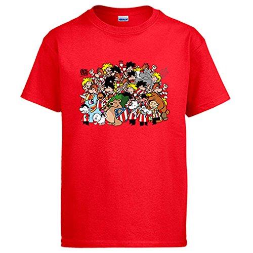 Diver Camisetas Camiseta Atlético de Madrid Nunca Dejes De Creer - Rojo, XXL