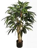 Seidenblumen Roß Mangobaum 90cm DA künstlicher Baum Pflanze Kunstbaum Dekobaum Kunstpflanzen Zimmerpflanze Mango