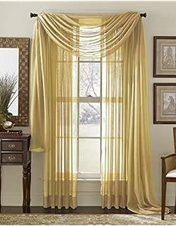 DIVAS COMFORT VNKDECO Curtain Scarf Sheer Voile Valance 37