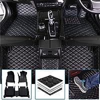 に適 For アウディ 車のフロアマット RS5 2012-2016 フルカバレッジ人工皮革カーマット防水アンチスキッドカーフロアマット 黒