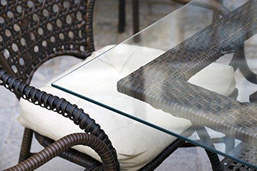 MySpiegel.de Glasplatte Tisch Glastisch Tischplatte Glas Zuschnitt 8mm 100x70 cm Glasplatten nach Maß Klar Durchsichtig Glasscheibe