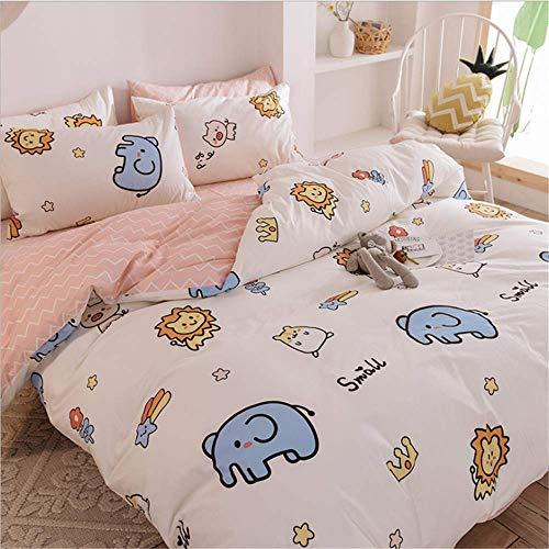 KHDJ Long Staple Cotton Bed Set,Double Duvet Covers Set Cotton Bedding Set Double And Cotton Pillow Cases Soft Sateen Quilt Cover Double Set Bedding Set Double Bed Double,simba,160 * 210cm