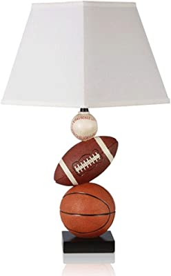 ECSWP Hotel Decorative Table lamp Football Basketball Decorative Table Lamp Bedroom Learning Reading Bedside Lamp