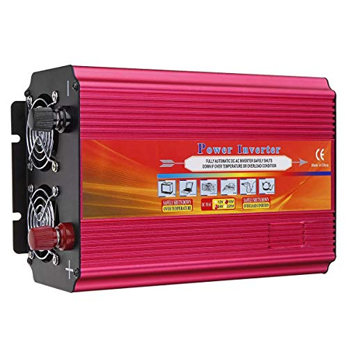 Barret Stellanfgjhn Invertitore di Potenza LCD Power Inverter Peak Onda sinusoidale modificata convertitore 6000W DC 12V / 24V for AC 110V / 220V (Voltage : 24V-220V)
