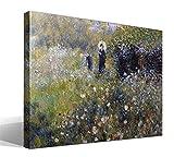 Cuadro Canvas Mujer con un Parasol en un jardín de Pierre Auguste Renoir