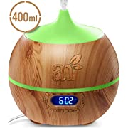 ArtNaturals Essential Oil Diffuser and Humidifier with Bluetooth Speaker Clock - (13.5 Fl Oz / 400ml Tank) - Electric Cool Mist Aromatherapy for Office, Home, Bedroom, Baby Room