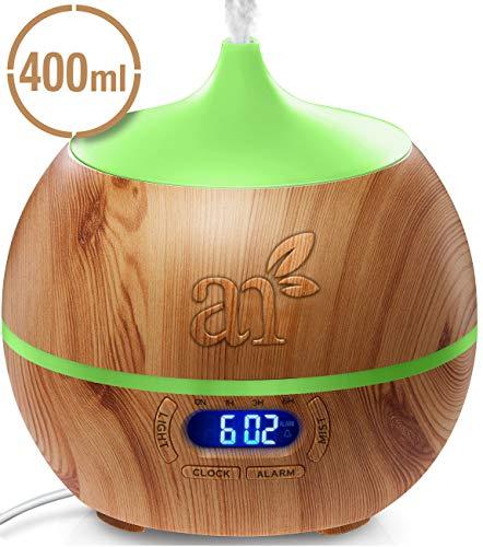ArtNaturals Aroma-Diffuser für Ätherische Öle - Luftbefeuchter mit Bluetooth Lautsprecher und Alarm