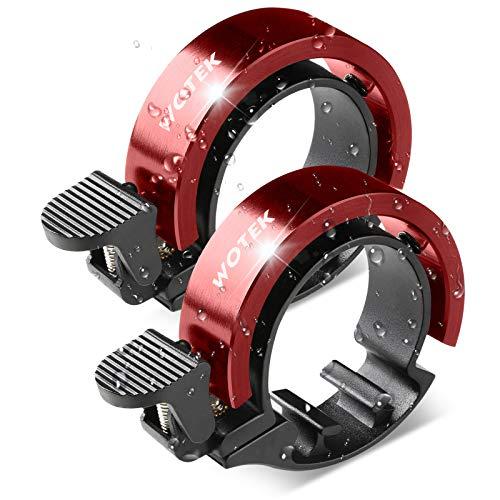 Fahrradklingel Fahrrad Klingel Fahrradglocke 2 Stück Mini Innovative Fahradklingeln Laut und Hell,O Design Rot Aluminiumlegierung Fahrrad Glocke Fahrradhupe für Mountainbike MTB,22.2-31.8mm Lenker
