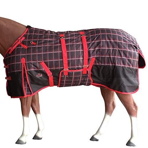 """HILASON 78"""" 1200D Winter Waterproof Horse Blanket Belly Wrap Plaid"""