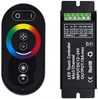 ZYL-IL Dimmer DC12V 24V RF sin Hilos 18A RGB 3 Channel LED Touch Controller for Strip de luz de lámpara