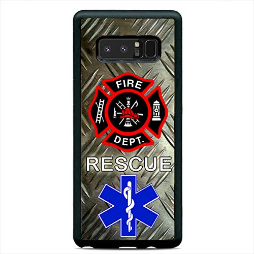 Firefighter Medic Rescue First Responders Hard Rubber Custom Case Cover for Samsung Galaxy S20 Ultra S10+ S10e S9 Plus
