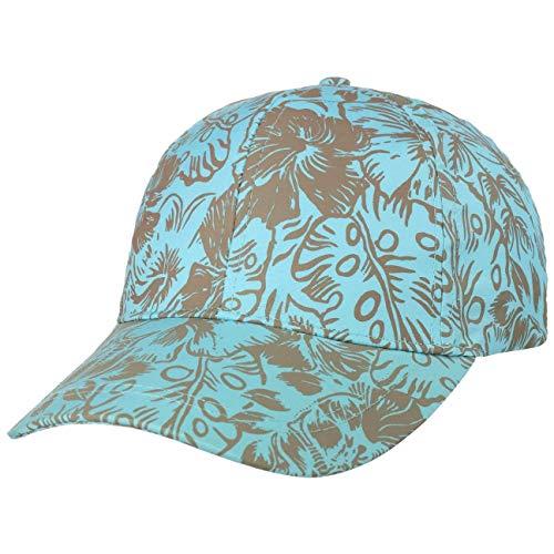 Lipodo Fatoga Flower Cap Basecap Baseballcap Damencap Sommercap Sonnencap Damen - mit Schirm, Klettverschluss Frühling-Sommer - One Size türkis