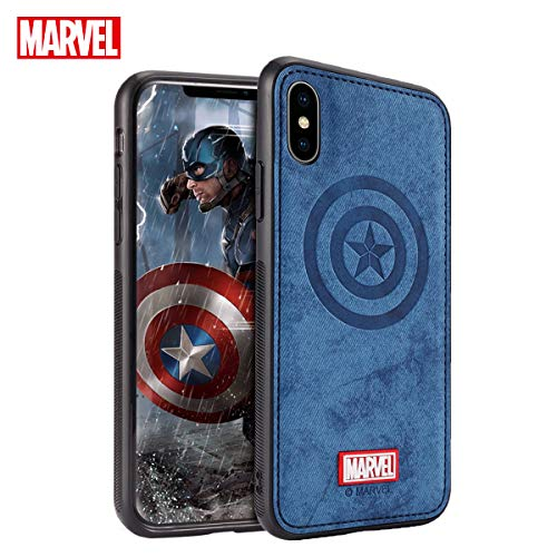 TinPlanet Marvel Avengers Endgame iPhone Xs Max Case, Captain America (Blue)