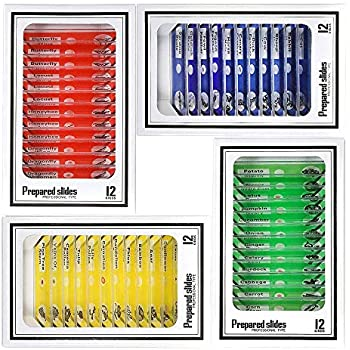 Niños Microscopio Preparado Diapositivas, Bysameyee Plástico...
