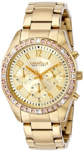 Caravelle New York by Bulova Women's 44L151 Analog Display Japanese Quartz Yellow Watch