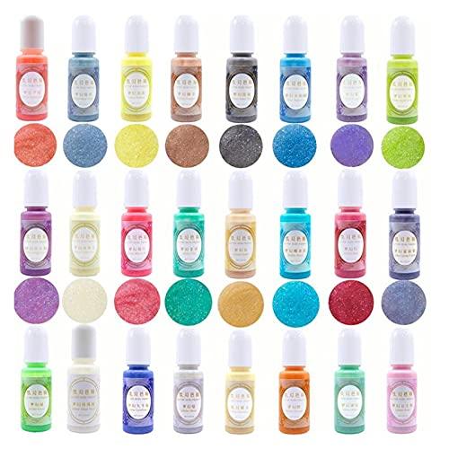 24 colores DIY UV Resina de la resina de la resina de la resina de la resina de la resina de la resina del alcohol de la tinta del color del color del color del color de la tinta de colorante para la