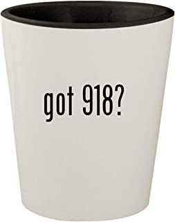 got 918? - White Outer & Black Inner Ceramic 1.5oz Shot Glass