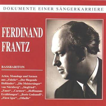 Dokumente einer Sängerkarriere - Ferdinand Frantz