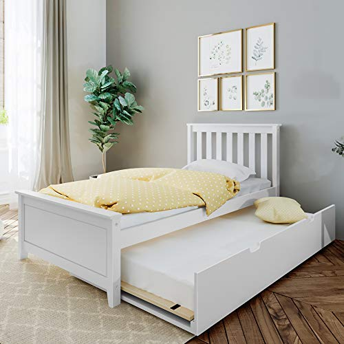Max & Lily Bed with Trundle, Twin, White