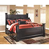 Ashley Furniture Signature Design - Shay King Poster Rails - Component Piece - Almost Black