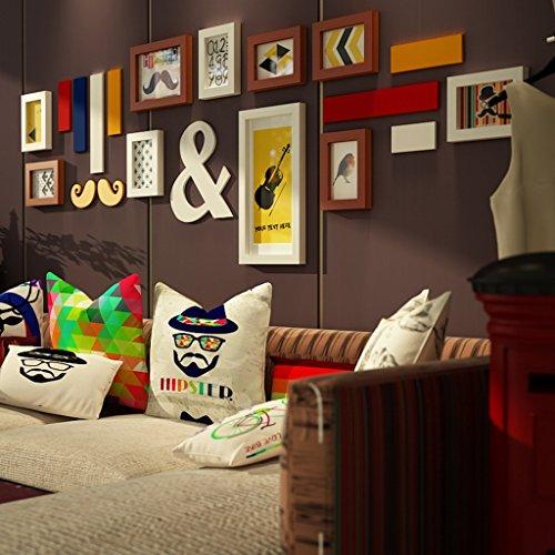 Foto Frames Peaceip Set Van 10 Frames, Dennenhout Buitenkast Combinatie Achtergrond Muur fotomuur voor kamer/met Foto's/Creatief