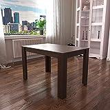 Vida Designs Medina 4 Seater Dining Table MDF Wood Rectangle Modern Kitchen Dining Room Furniture Unit, Walnut